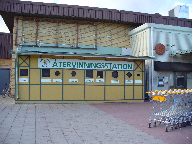 スウェーデン スーパーマーケット前