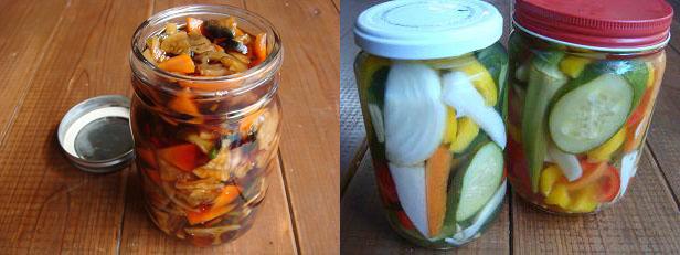 余り野菜で作った福神漬けとピクルス